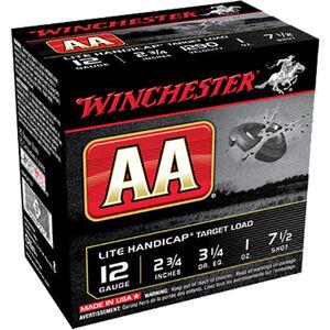 "Winchester USA AA Lite Handicap Target Load 12 Gauge Ammunition 2-3/4"" #7.5 Lead Shot 1 oz 1290 fps"