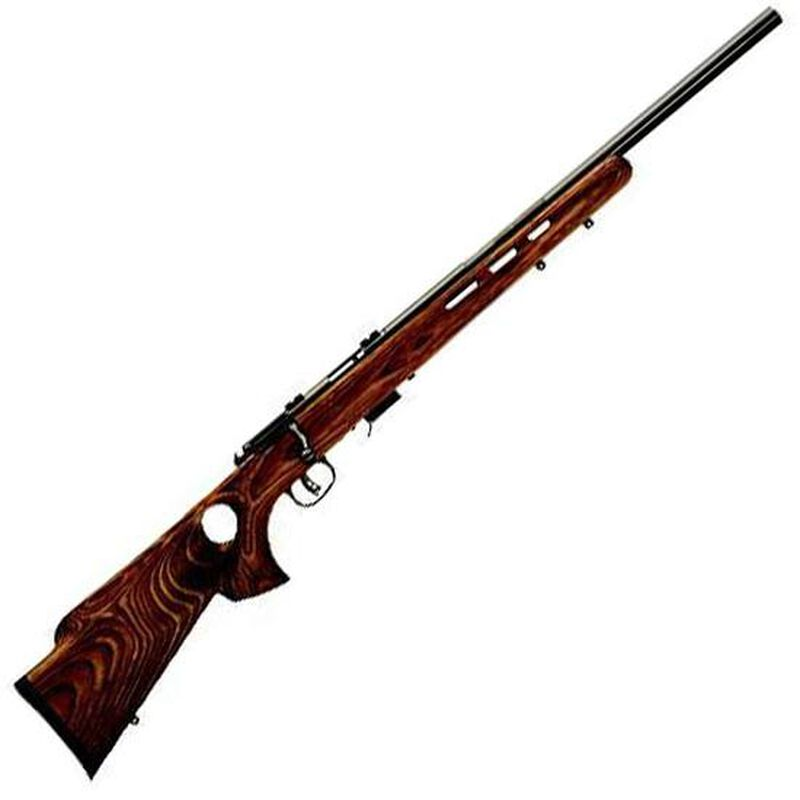 """Savage 17 Series Model 93R17-BTV Bolt Action Rimfire Rifle .17 HMR 21"""" Barrel 5 Rounds Brown Laminated Vented Thumbhole Stock Blued Barrel 96250"""
