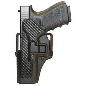 BLACKHAWK! SERPA CQC Glock 17, 22, 31 Holster Left Hand Black Carbon Fiber Finish 410000BK-L