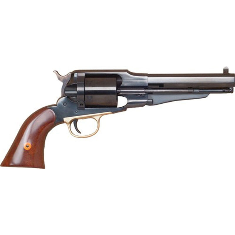 """Cimarron Firearms 1858 New Model Army .38 Special Single Action Revolver 6 Rounds 5.5"""" Barrel Walnut Grips Blued Finish"""