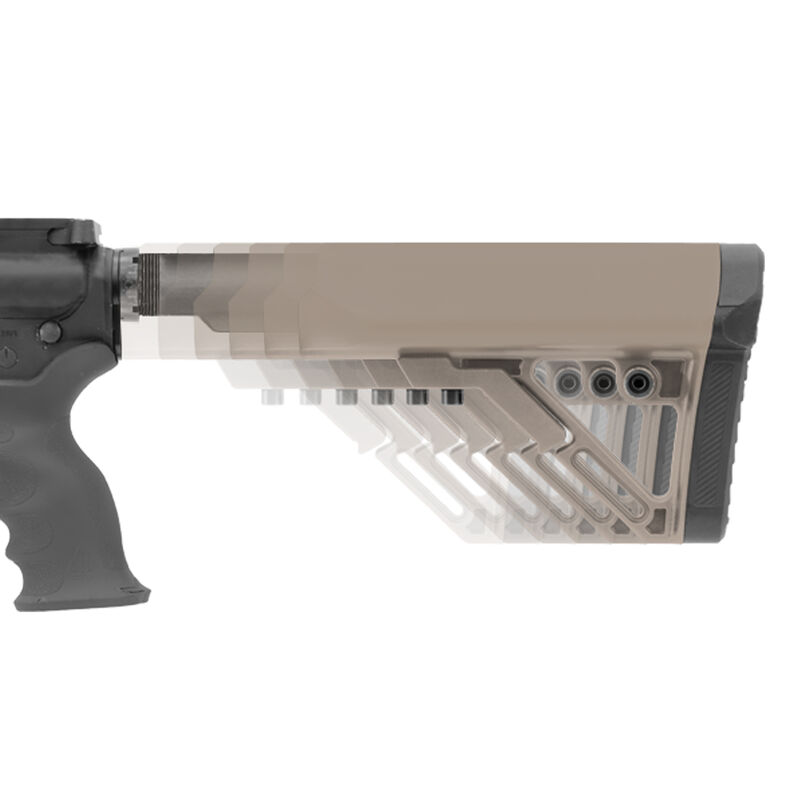 Leapers UTG PRO Model 4 Combat S1 Mil-spec Butt Stock Kit Flat Dark Earth
