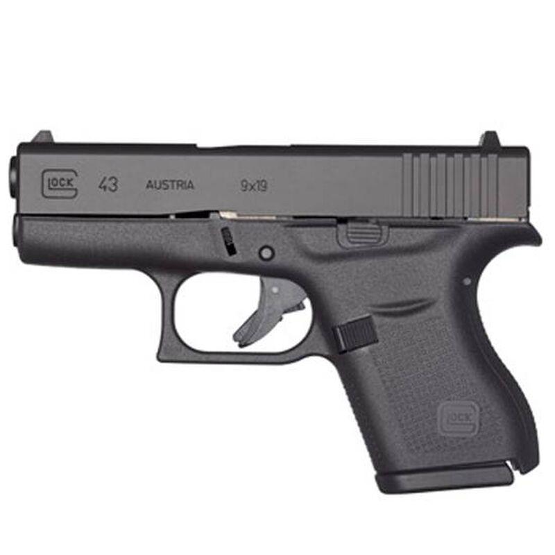 "GLOCK 43 9mm Semi Auto Pistol, 3.39"" Barrel 6 Rounds, Single Stack"