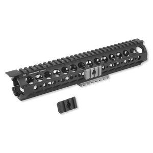 Midwest Industries AR-15 SS-Series Rifle Length Handguard Aluminum Black With OD Green Rails MI-19SS-OG
