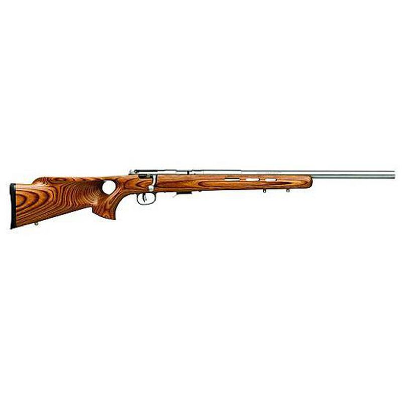 "Savage 93R17BTVS Bolt Action Rifle .17 HMR 21"" Barrel 5 Rounds Laminate Thumbhole Stock Stainless Finish 96200"