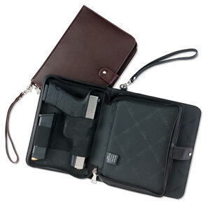 Galco Hidden Agenda Holster Fits Most Handguns Ambidextrous Leather Brown