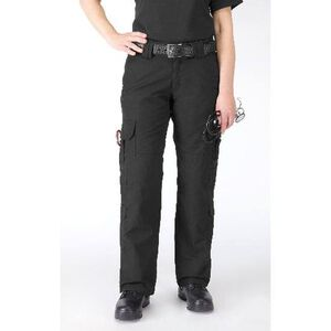 5.11 Tactical Women's Taclite EMS Pants Cotton Polyester Ripstop 20 Long Black 64369