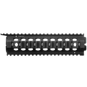 "Troy Industries AR-15 Enhanced Drop-In BattleRail 9"" Mid Length Aluminum Black SRAI-DID-D9BT-00"