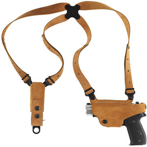 Galco Classic Lite Shoulder Holster System GLOCK 17/19/22/23/31/32 Left Hand Draw Leather Natural Finish