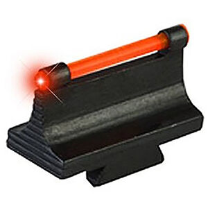 TRUGLO 3/8 inch Dovetail Front Sight Rifle fits 3/8 inch dovetail Red Fiber Optic Steel Black