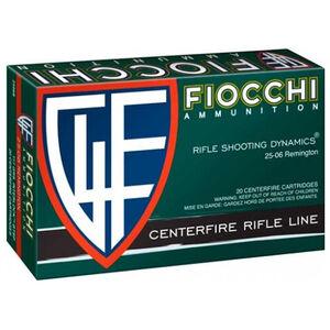 Fiocchi Rifle Shooting Dynamics .25-06 Remington Ammunition 20 Rounds 117 Grain Interlock BT Projectile 2975 fps