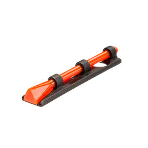 HiViz Front Sight Shotgun Bead Threaded Optic Fiber Family Steel Black PM2003