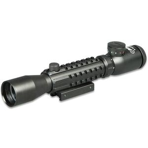 3-9x32 Tri-Rail Picatinny Tactical Rifle Scope Sun Optics USA Illuminated Mil-dot Reticle Integral Mount