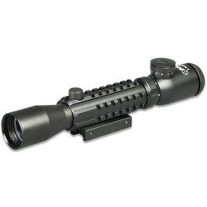 3-9x32 Tri-Rail Picatinny Tactical Rifle Scope Sun Optics USA Illuminated Mil-dot Reticle Integral Mount