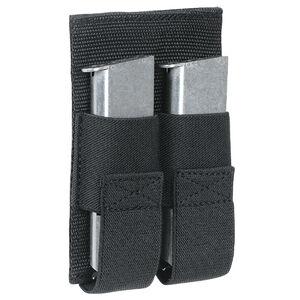 Voodoo Tactical Removable Hook/Loop Double Pistol Magazine Pouch Velcro Compatible Nylon Matte Black