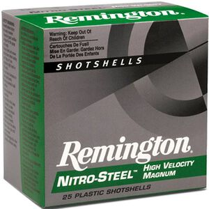 "Ammo 12 Gauge Remington Nitro-Steel High-Velocity 3"" #4 Plated Steel 1-3/8 Ounce 250 Round Case 1300 fps NS12HM4"