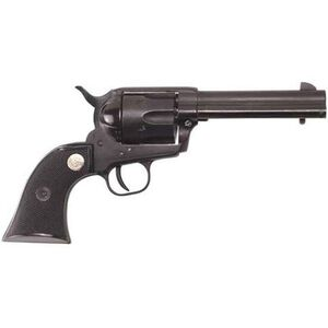 "Cimarron Plinkerton Revolver .22 LR 4.75"" Barrel 6 Rounds Rubber Grips Fixed Sights Blued Finish"