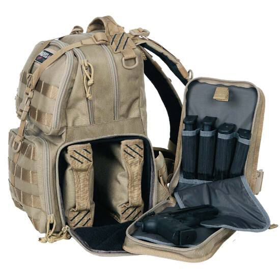 Tactical Range Backpack Handgun Magazine Storage Cases G-Outdoors G.P.S Tan