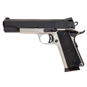 "Rock Island Armory Standard Series Full Size 1911 Semi Auto Pistol .45 ACP 5"" Barrel 8 Rounds Fixed Front Sight/Rear Sight Combat Polymer Grips 2-Tone Finish"
