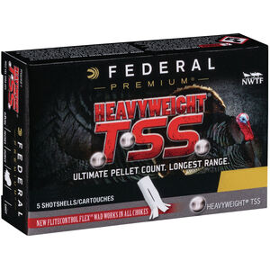 "Federal HEAVYWEIGHT TSS 12 Gauge Ammunition 5 Rounds 3-1/2"" #7 Tungsten Shot 2-1/4 Ounce 1200fps"