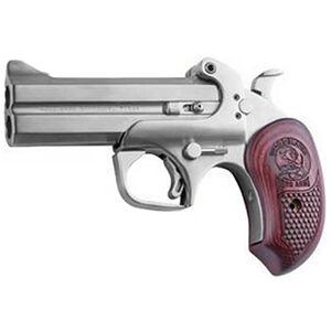 "Bond Arms Snake Slayer IV Derringer .45 Long Colt and .410 Bore 4.25"" Barrels Extended Rosewood Grip Satin Polish Stainless Steel Finish"