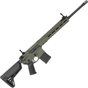 "Barrett REC7 DMR AR-15 Semi Auto Rifle 5.56 NATO 18"" Barrel 20 Round Magazine Gas Piston System Enhanced M-LOK Hand Guard 6-Position Stock Cerakote OD Green Finish"