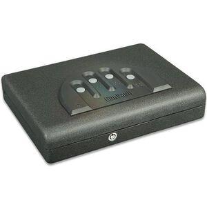 """GunVault MicroVault Standard Handgun Safe 11""""x8.5""""x2.25"""" Steel Black MV500-STD"""