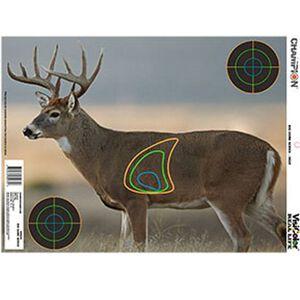"Champion VisiColor Real Life Deer Paper Target 13""x18"" 12 Pack"