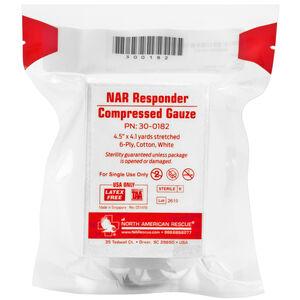 "North American Rescue Responder Compressed Gauze 4.5"" Sterile Vacuum Sealed"