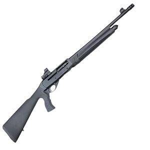 "Girsan MC312 Tactical 12 Gauge Semi-Auto Shotgun 18.5"" Barrels 5 Rounds Raised Front and Red Dot Sight Synthetic Pistol Grip Stock Black Finish"