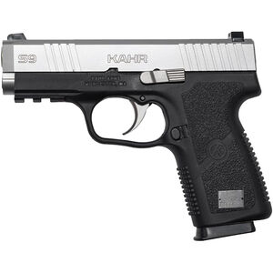 """Kahr S9 9mm Luger Semi Auto Pistol 3.6"""" Barrel 7 Rounds Black Polymer Frame with Accessory Rail Stainless Finish"""