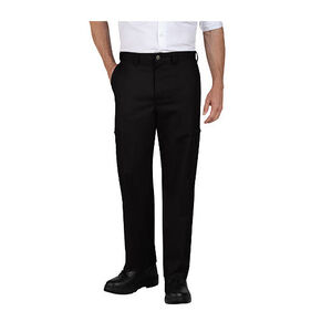 """Men's Industrial Relaxed Fit Cotton Cargo Pant Size 38"""" Unhemmed Black"""