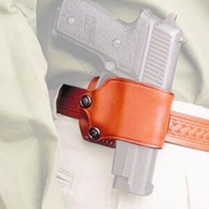 The DeSantis Yaqui Slide Large Frame Double Action Semi Automatic Pistols Belt Slide OWB Holster Right Hand Leather Tan