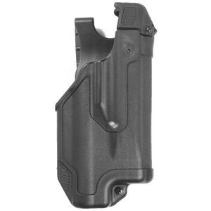 BLACKHAWK! Epoch GLOCK 20, 21 Level 3 Light Bearing Duty Holster Polymer Right Hand Matte Black 44E013BK-R