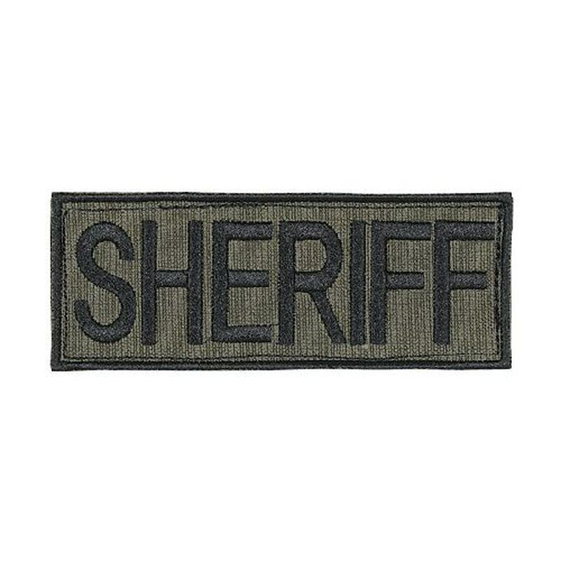 "Voodoo Tactical Law Enforcement Patch Sheriff 2""x4"" OD Green 06-772804219"