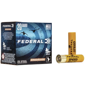 "Federal Speed-Shok Waterfowl Steel 20 Gauge Ammunition 3"" #2 Steel 7/8 oz 1550 fps"