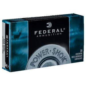 Federal Power-Shok .308 Winchester Ammunition 20 Rounds 150 Grain Jacketed Soft Point 2820fps