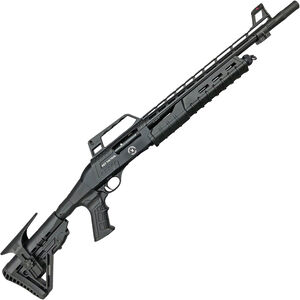 """TR Silver Eagle RZ17 Tactical 12 Gauge Pump Action Shotgun with Spring Assist 18.5"""" Barrel 3"""" Chamber 4 Rounds Carry Handle Collapsible Stock Black"""