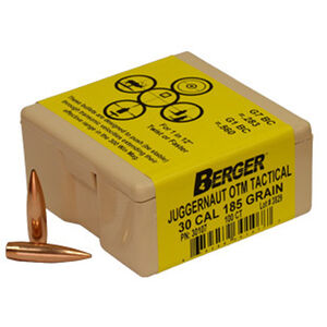 "Berger Tactical Bullets .30 Caliber .308"" Diameter 185 Grain Juggernaut Open Tip Match Tactical Projectile 100 Per Box 30107"