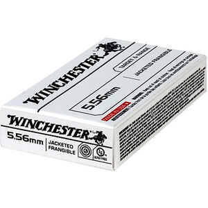 Winchester 5.56 NATO Ammunition 20 Round 50 Grain Jacketed Frangible Lead Free 3000 fps