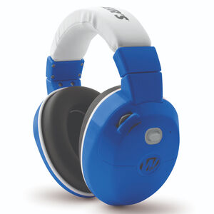 Walker's Game Ear Electronic Active Youth Earmuffs 22dB Noise Reduction Rating Two AAA Battery Powered Royal Blue