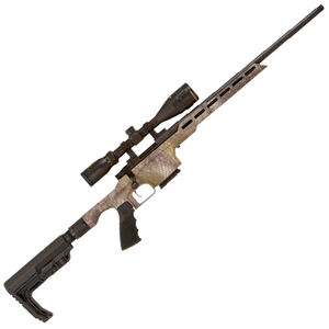 """Howa Mini EXCL Lite 6.5 Grendel Bolt Action Rifle 20"""" Threaded Barrel 5 Rounds Nikko Stirling 4-12x40 Scope Synthetic Stock Folding Stock Chassis Kratos Camouflage"""