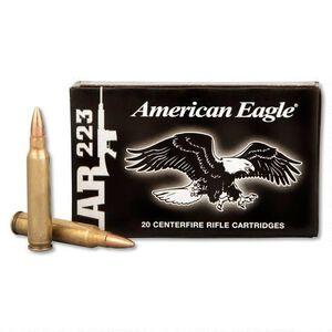 Federal American Eagle .223 Rem Ammunition 55 Grain FMJBT 3240 fps