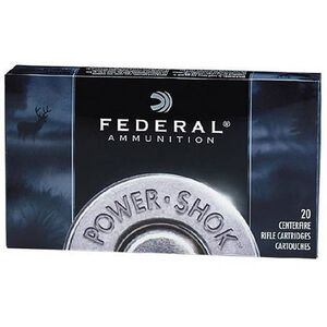 Federal Power-Shok .222 Remington Ammunition 20 Rounds JSP 50 Grains 222A