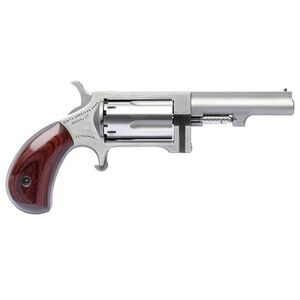 """North American Arms Sidewinder Revolver .22 LR/.22 WMR 2.5"""" Barrel Swingout Cylinder 5 Rounds Wood Grips Stainless Steel NAASWC250"""