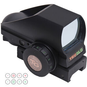 TRUGLO Tru-Brite Dual Color Red/Green Dot Sight 4 Reticle Reflex Sight Matte Black TG8380B