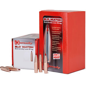 Hornady ELD Match Projectiles .22 Caliber 224 Diameter 75 Grain ELD Match Boat Tail 100 Count