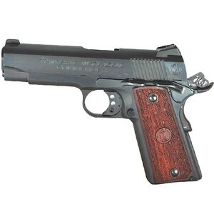 "American Classic 1911 Commander Semi Automatic Pistol .45 ACP 4.25"" Barrel 8 Round Capacity Wood Grips Deep Blued Finish ACC45B"