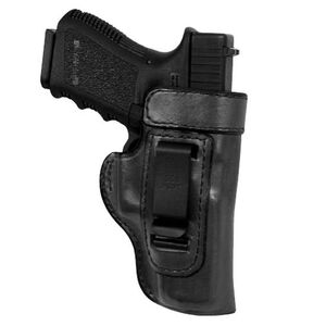 Don Hume Clip On Inside the Waistband S&W M&P 9mm Luger/.40 S&W Compact Holster Right Hand Leather Black J168877R