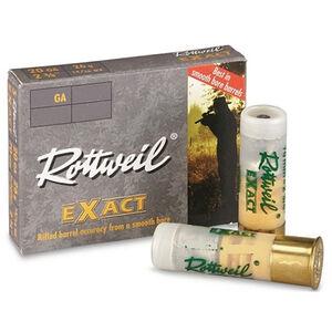 "RWS Rottweil Exact Magnum 20 Gauge Ammunition 5 Rounds 3"" 15/16oz Lead Slug 1495fps"