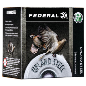 "Federal Upland Steel 28 Gauge Ammunition 2-3/4"" #6 Steel Shot 5/8 Ounce 1350 fps"